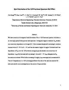 Unusual Magnetoresistance of the 12/5 Fractional Quantum Hall State ...