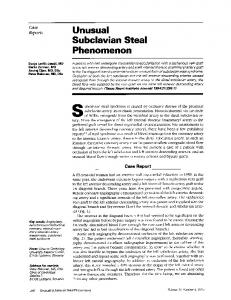 Unusual Subclavian Steal - Europe PMC