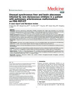 Unusual synchronous liver and brain abscesses infected by rare ...