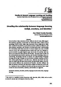 Unveiling the relationship between language learning beliefs ...