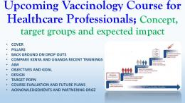 Upcoming vaccinology course for health professionals - ECAVI