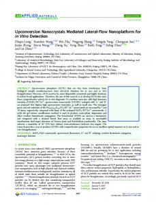 Upconversion Nanocrystals Mediated Lateral-Flow ... - ACS Publications