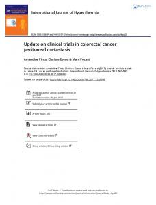 Update on clinical trials in colorectal cancer