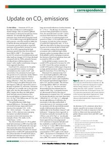 Update on CO2 emissions