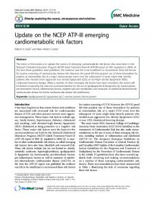 Update on the NCEP ATP-III emerging cardiometabolic risk factors ...