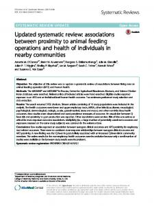 Updated systematic review: associations ... - Systematic Reviews