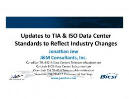 Updates to TIA & ISO Data Center p Standards to Reflect Industry ...