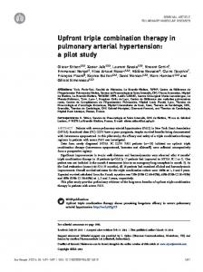 Upfront triple combination therapy in pulmonary arterial hypertension ...