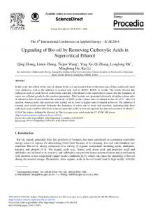 Upgrading of Bio-oil by Removing Carboxylic Acids in ... - Core