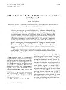 upper airway blocks for awake difficult airway