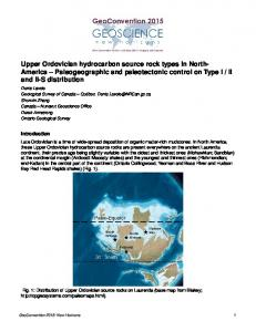Upper Ordovician hydrocarbon source rock types in ... - GeoConvention
