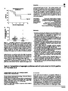 'Upregulation of asparagine synthetase and cell cycle ...