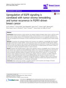 Upregulation of EGFR signaling is correlated with ... - Semantic Scholar
