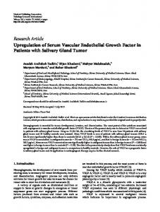 Upregulation of Serum Vascular Endothelial Growth Factor in Patients ...