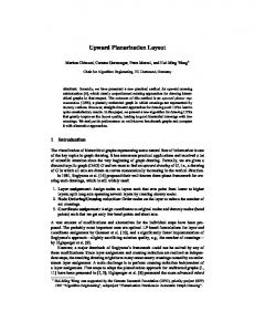Upward Planarization Layout - TU Dortmund
