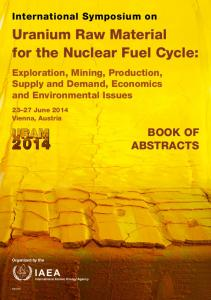 Uranium Raw Material for the Nuclear Fuel Cycle - IAEA Publications