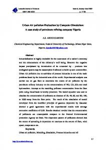 Urban Air pollution Evaluation by Computer Simulation: A case study ...