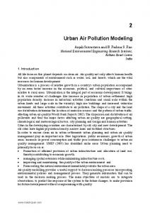 Urban Air Pollution Modeling