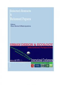 Urban Design and Ecology