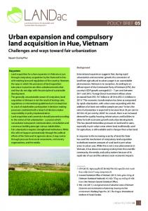 Urban expansion and compulsory land acquisition in Hue, Vietnam