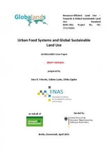 Urban Food Systems and Global Sustainable Land Use - IINAS