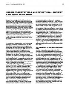 urban forestry in a multicultural society - FAO