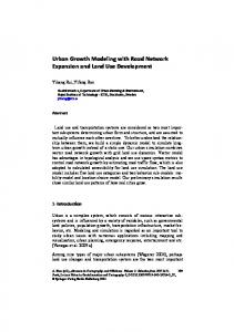 Urban Growth Modeling with Road Network ...