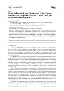 Urban Land and Sustainable Development - Semantic Scholar