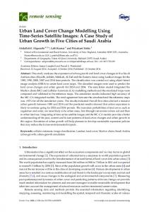 Urban Land Cover Change Modelling Using Time-Series ... - MDPI