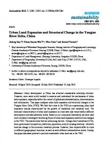 Urban Land Expansion and Structural Change in the Yangtze River ...