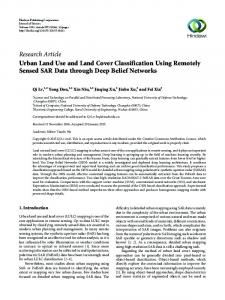 Urban Land Use and Land Cover Classification Using Remotely ...