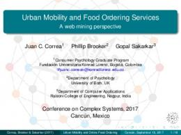 Urban Mobility and Food Ordering Services - A web