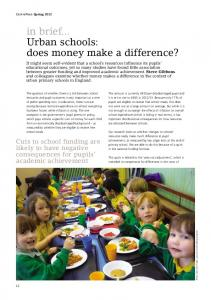 Urban schools: does money make a difference? - Centre for Economic ...
