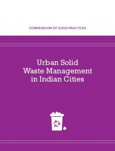 Urban Solid Waste Management in Indian Cities - NIUA - National ...