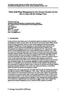 Urban Solid Waste Management in Low-Income Countries of ... - Eawag