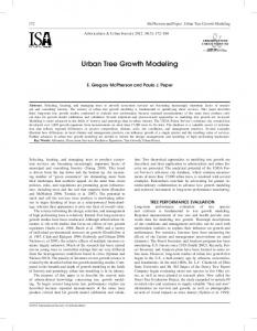 Urban Tree Growth Modeling - Forest Service