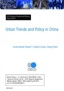 Urban Trends and Policy in China - OECD.org
