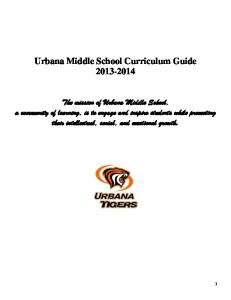 Urbana Middle School Curriculum Guide 2013-2014