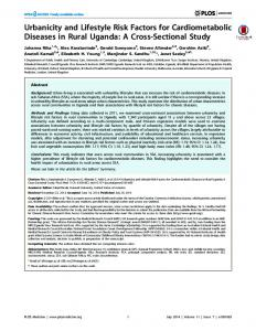 Urbanicity and Lifestyle Risk Factors for Cardiometabolic Diseases in ...