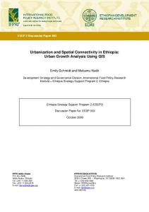 Urbanization and Spatial Connectivity in Ethiopia - Ethiopia Strategy ...