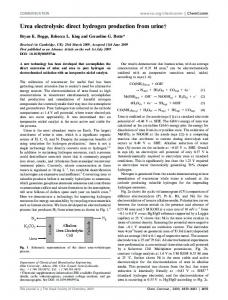 Urea electrolysis: direct hydrogen production from urinew