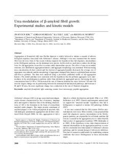 Urea modulation of -amyloid fibril growth: Experimental ... - CiteSeerX