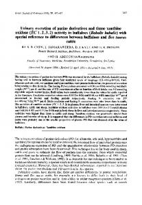 Urinary excretion of purine derivatives and tissue ...