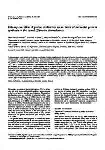 Urinary excretion of purine derivatives as an index ... - Semantic Scholar