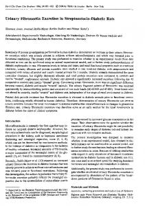 Urinary Fibronectin Excretion in Streptozotocin-Diabetic ... - CiteSeerX