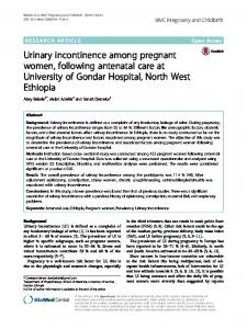 Urinary incontinence among pregnant women
