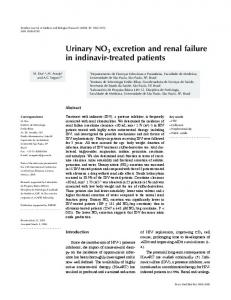 Urinary NO3 excretion and renal failure in indinavir-treated ... - Scielo.br