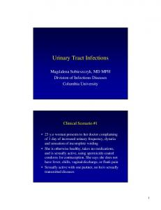 Urinary Tract Infections - Columbia University