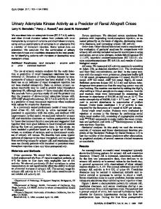 UrinaryAdenylateKinaseActivityas a Predictorof ... - Clinical Chemistry