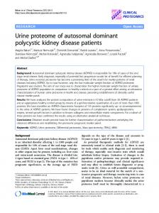 Urine proteome of autosomal dominant polycystic ... - BioMedSearch